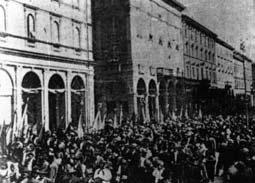 Bologna 1919, corteo dopo il congresso di Federterra