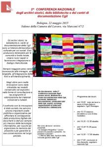 2015 CGIL 22 maggio locandina conferenza Bologna