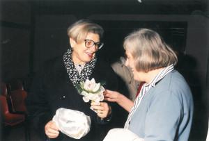 Giovanna Tabanelli con Margherita Hack